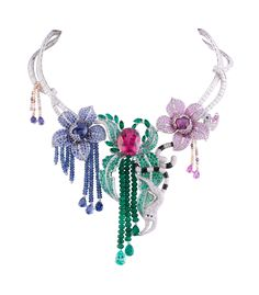Van Cleef & Arpels, Makis necklace from Les Voyages Extraordinaires™ collection  (celebrating the fauna and flora of Africa).  jewellery, jewelry