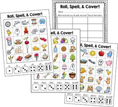 Roll, Spell, and Cover! This game is already in use in my classroom and my kids are loving it. This helps my kids sound out words phonetically drawing on what they've learned so far this year. Students roll a die, find a word that corresponds, spell it and cover! There is a short vowel board, a long vowel board, and a digraphs board.