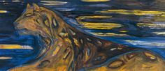 Leena Luostarinen - Yöleopardi / Nattleopard / A Night Leopard Cat Garden, Finland, Night, Cats, Artwork, Photography, Paintings, Google, Museums