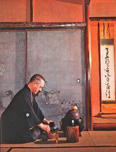 Japanese tea ceremony,1955: photo by Bischof, Werner
