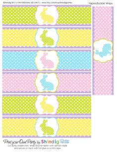 Easter printables (napkin rings, cupcake wrappers, etc.)