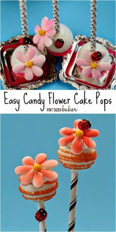 Learn how to make these Easy Candy Flower Cake Pops! The kids can help you construct these flowers!
