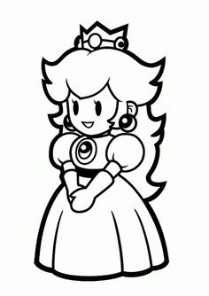 Princess Peach Coloring Pages To Print