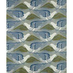 Avis designed by Marion Dorn c. 1939 for Edinburgh Weavers. tesselating birds in flight / wonderful colour combination