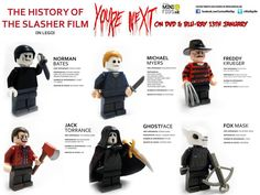 FEARnet Liked · 3 hours ago Iconic horror villains get the LEGO treatment! Lego Halloween, Halloween Horror, Scary Movies, Horror Movies, Horror Villains, Lego Tv, Creepy Toys, Scary Tales, Lego People