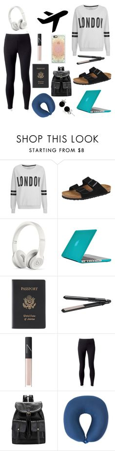 """""""Trip back from London"""" by alexandra-birky ❤ liked on Polyvore featuring ONLY, Birkenstock, Beats by Dr. Dre, Disney, Speck, Royce Leather, BaByliss, NARS Cosmetics, Jockey and Bling Jewelry"""
