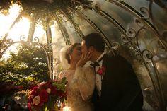 A fairy tale kiss inside Cinderella's Crystal Coach at Disneyland