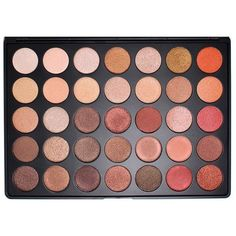 35 Colour Shimmer Nature Glow Eye Shadow Palette (35OS) by Morphe... ($27) ❤ liked on Polyvore featuring beauty products, makeup, beauty, palette makeup, morphe cosmetics and morphe makeup