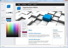 Zeta Producer Desktop CMS - Layout-Vorlage anpassen