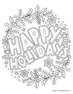 √ Free Holiday Coloring Pages for Adults. 11 Free Holiday Coloring Pages for Adults. Beautiful Printable Christmas Adult Coloring Pages Turtle Coloring Pages, Easter Coloring Pages, Free Adult Coloring Pages, Mandala Coloring Pages, Coloring Pages To Print, Coloring Pages For Kids, Coloring Books, Kids Coloring, Colouring
