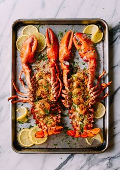 Baked Stuffed Lobster with Shrimp makes a big statement for a special celebration. This lobster with herbs, buttery bread crumbs & shrimp won't disappoint. Lobster Recipes, Fish Recipes, Seafood Recipes, Great Recipes, Cooking Recipes, Healthy Recipes, Lobster Food, Seafood Dishes, Fish And Seafood