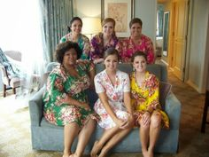 love the robes for getting read together, each girl in a different color & the bride in white