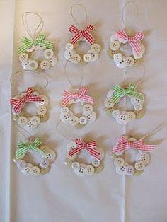 Button wreaths enfeites de botão para arvore de natal