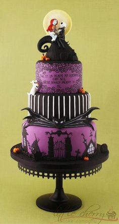 A Jack & Sally cake!!