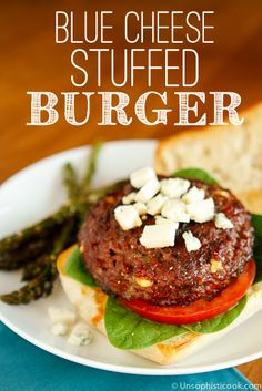 Blue Cheese Stuffed Burgers -- wow your guests with these blue cheese ...