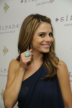 "Maria Menounos (""Extra"" Co-host) in Silpada's turquoise statement ring (R2017) and a coordinating pair of sterling silver and turquoise earrings (W2132). Silpada Designs 2011 Emmy Awards Style Suite."