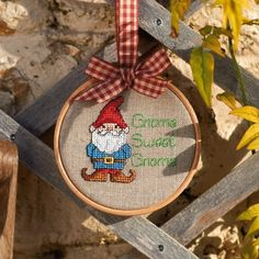 Ooooh gnomes in cross stitch! One of our FAVOURITE designs from @Linda Bruinenberg Simmons issue 250