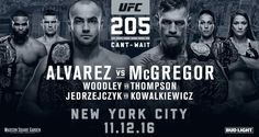 UFC® BRINGS POWERFUL LINEUP FOR DEBUT IN NEW YORK CITY WITH THREE WORLD TITLE BOUTS (C) EDDIE ALVAREZ vs. (C) CONOR McGREGOR (C) TYRON WOODLEY vs. (#2) STEPHEN THOMPSON (C) JOANNA JEDRZEJCZYK vs. (…
