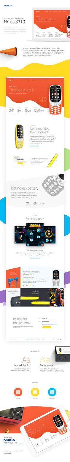 Nokia Landing Page Website - Behance #ui #ux#userexperience #website #webdesign #design