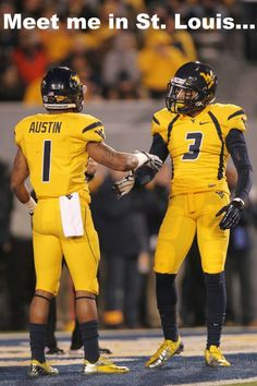 Tavon Austin & Stedman Bailey!  So proud of our Mountaineers!!!!!
