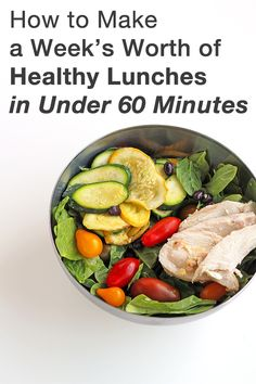 How to Make A Week's Worth of Healthy Lunches in Under 60 Minutes AND save $35/week!! Options for paleo, vegetarian/vegan & gluten-free diets.
