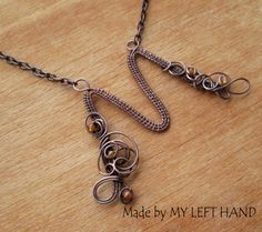 Personalized Copper Pendant Wire Letter M by MadeByMyLeftHand