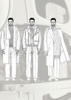 Fashion Sketchbook - fashion illustrations; menswear lineup; fashion portfolio // Niall Cottrell