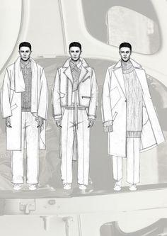 Fashion Sketchbook - fashion illustrations; menswear lineup; fashion portfolio // Niall Cottrell