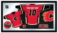 Calgary Flames Jersey Mirror