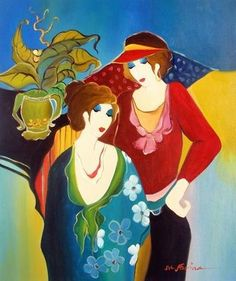 "Barbara and Clare"" High Quality Oil Repro of Tarkay 24""x20 (09/03/2012)"