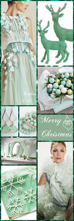 '' Christmas ~ Mint Green '' by Reyhan S.D