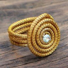 Sparkling Golden Grass Cocktail #Ring Crafted by Hand - Jalapão Evolution | NOVICA