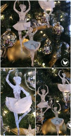 Hopelessly Adorable DIY Christmas Ornaments Made from Paper #Livingwikii #DIY #christmas #whitechristmas #christmastree