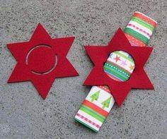 napkin-falten_coole-idea-for-Tischdeko-christmas-with-napkin rolled - XMas Christmas Projects, Felt Crafts, Holiday Crafts, Felt Diy, Noel Christmas, All Things Christmas, Christmas Ornaments, Christmas Napkins, 242
