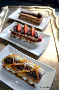 Mille feuille Napoleon in 3 variante Napoleon, Waffles, Deserts, Baking, Breakfast, Recipes, Food, Morning Coffee, Bakken