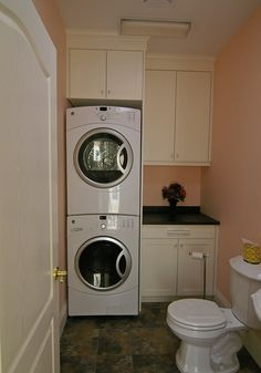 small half bath with laundry | Click photos for larger versions of these examples of productive use ...