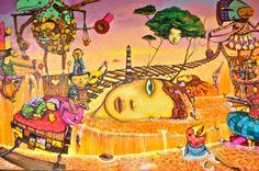 Em 2010 a entrada do MAM foi repaginada. O público passou a ser recepcionado pelos seres e cenas coloridas e inusitadas criados pelos grafiteiros OSGEMEOS. A parede entre a porta de acesso e a Aranha de Louise Bourgeois transformou-se, com a intervenção da dupla, em ponto de visita obrigatório no parque. A obra, além de