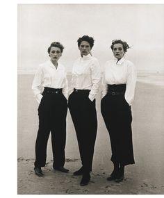 "tftp4: "" Peter Lindbergh Marie-Sophie Wilson, Lynne Koester, Tatjana Patitz Le Touquet 1987 """