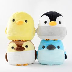 Kawaii plush stuffed toys - cuddly and furry friends Plush: Chick, Penguin, Bluebird, and Duckling