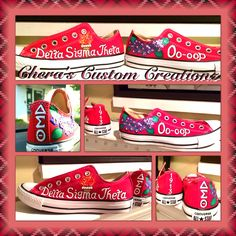 3fcb09a728f300 Hand-painted DST inspired Chuck Taylor sneakers   www.facebook.com CherasCustomCreationz and www.etsy.com onecraftydelta