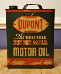 Dupont Motor Oil.
