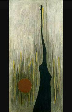 212. Clyfford Still, Jamais 1944 m 1,65x0,82 tela Venezia collezione privata Peggy Guggenheim