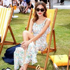 Alexa Chung at a polo match in the Hamptons