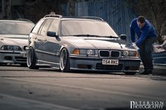Alex McArthurs BMW E36 touring on OEM BMW BBS RC wheels (Styling 5)