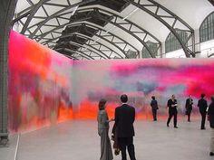 Big art. Katharina Grosse's painted wall at Hamburger Bahnhof. Berlin Art Diary