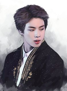 Image uploaded by Find images and videos about kpop, art and bts on We Heart It - the app to get lost in what you love. Bts Jin, Bts Bangtan Boy, Jhope Bts, Chibi Bts, Fanart Bts, Kpop Drawings, Ecole Art, Fanarts Anime, Worldwide Handsome