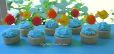 How to make Candy Fish Cupcake Toppers #Cupcakes