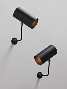 PHILLIPS auctions : UK050110, Serge Mouille, Pair of 'Tube' wall lamps