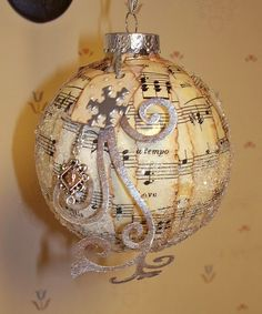 great Christmas idea..Music notes for John..maybe find lyricas to a favorite song