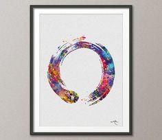 Zen Circle Enso Symbol Buddhism Meditation Yoga von CocoMilla